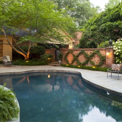 landscaped kidney shaped pool in birmingham, al
