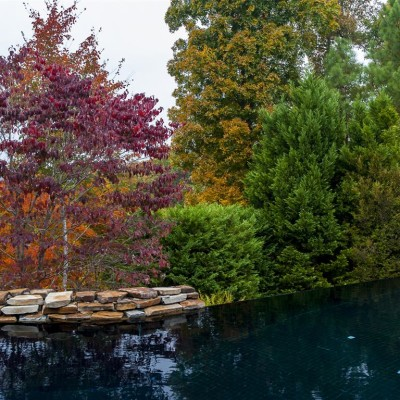 cascade pool in birmingham, al with fall foliage