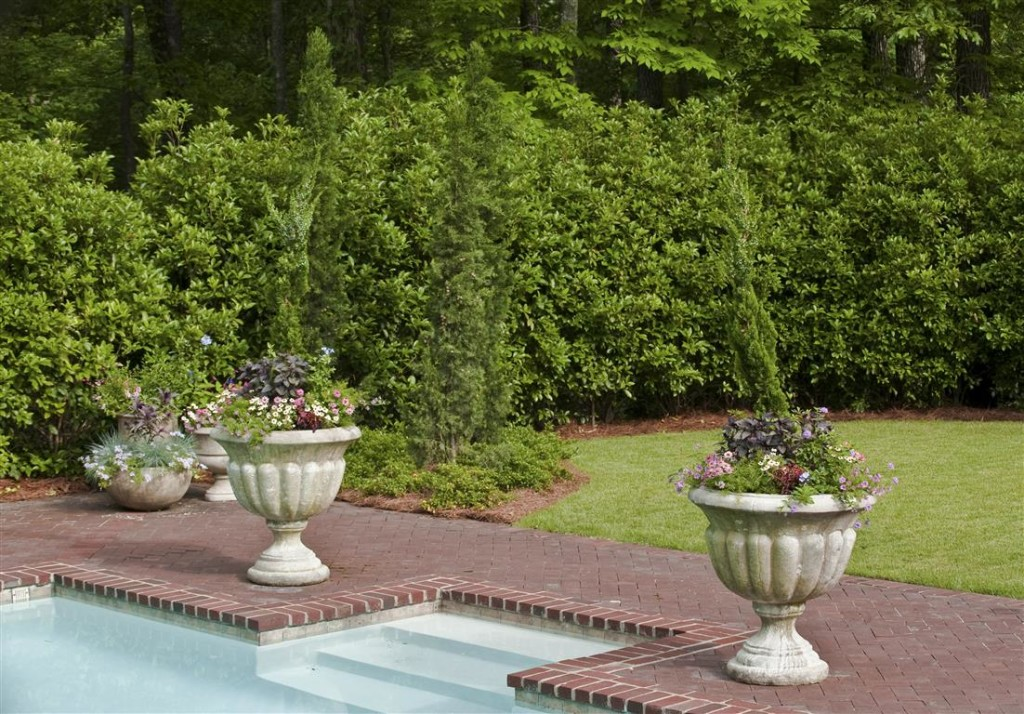 Poolside Potted Garden Containers ...
