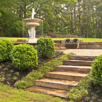 Gary Mitchell Agricultural Services, Marx-Kidd fountain terraced landscape